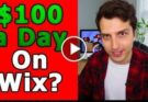 make money online $100 a day with free wix website