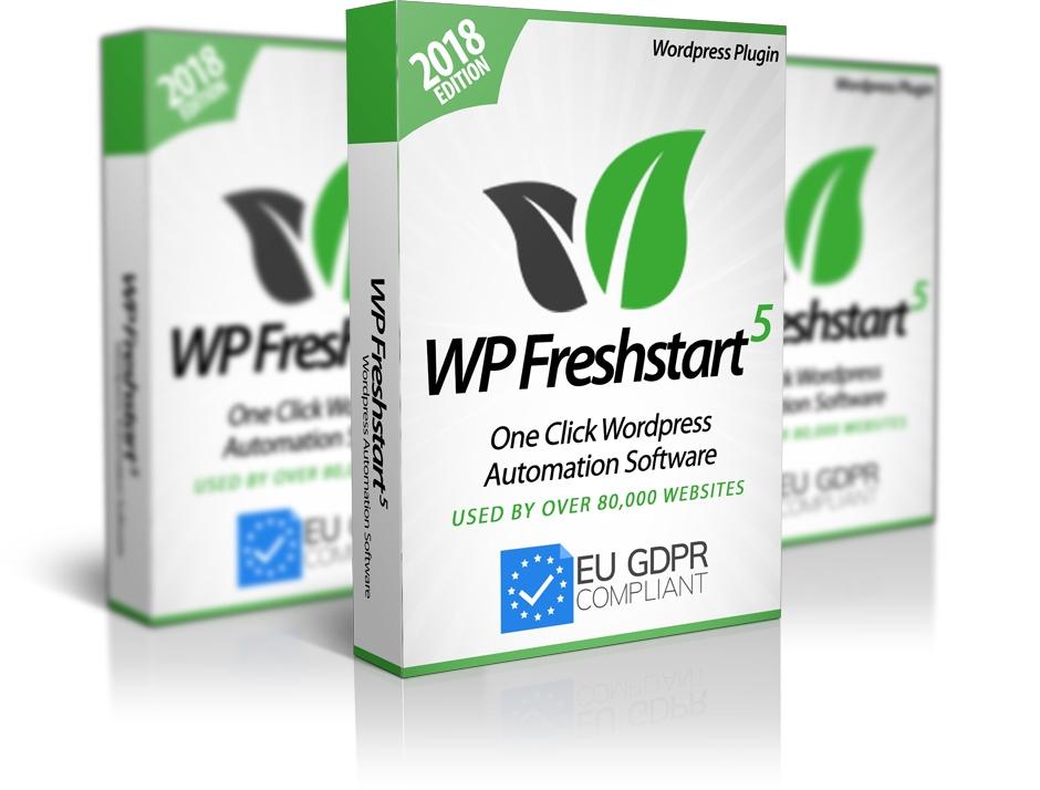 WP Freshstart 5 Review GDPR Plugin
